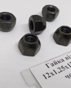 Гайка відкрита 12x1.25x17 конус кл.21 чорна. Фото 7