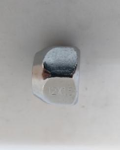 Гайка відкрита 12x1.5x17 конус кл.21 хром. Фото 2