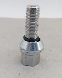 Болт колісний 12х1.25х28 ексцентрик конус кл.17 хром. Фото 2
